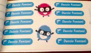 Etichette per la scuola Petit Fernand