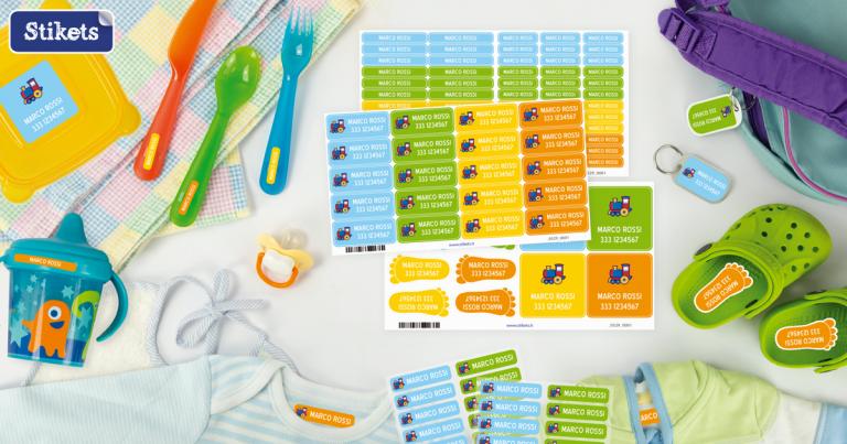 Etichette adesive Stikets per la scuola